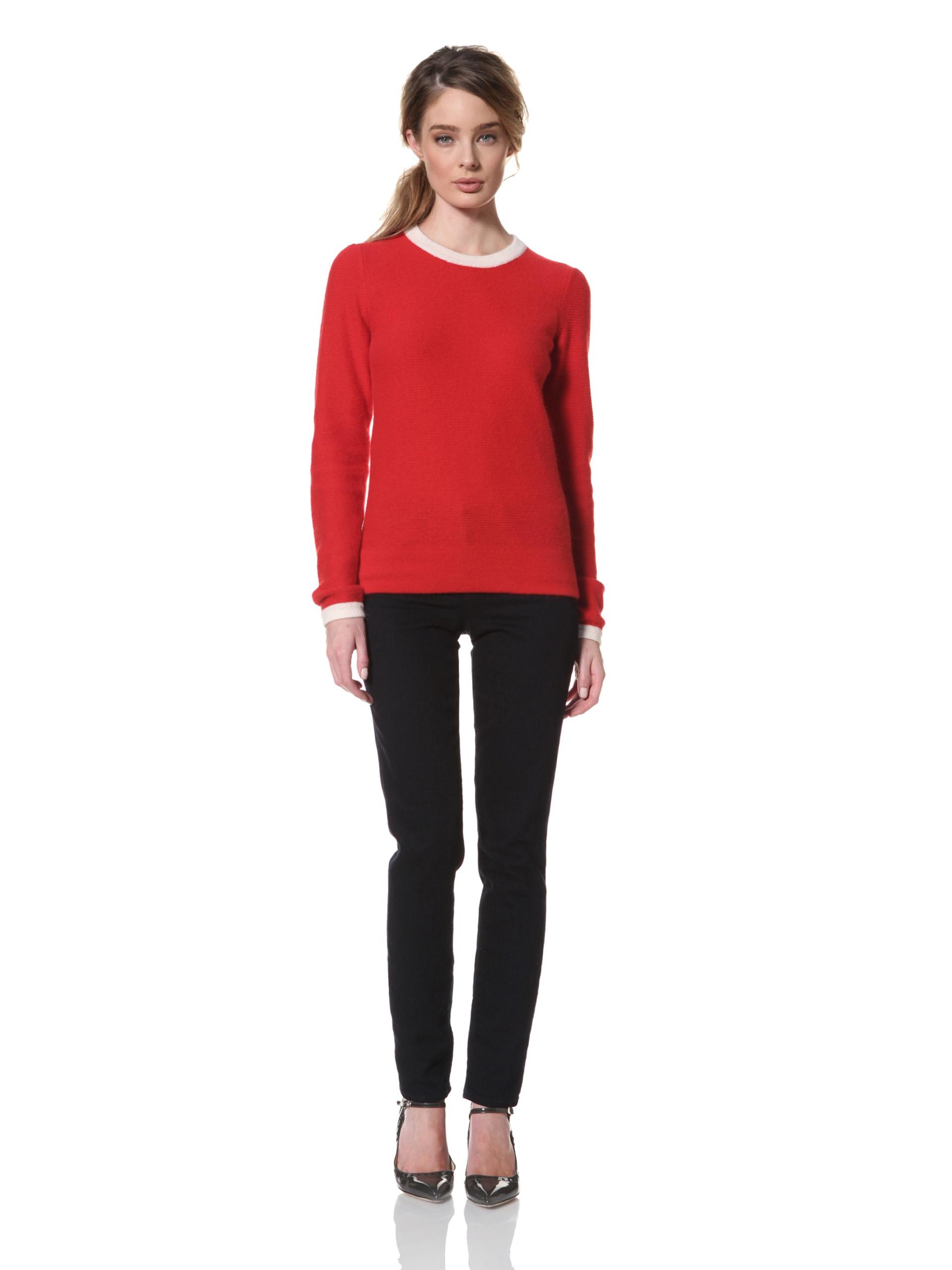 Trovata Women's Clementine Textured Sweater (Red)