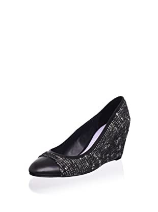 Delman Women's Marie Tweed Wedge Pump (Black)