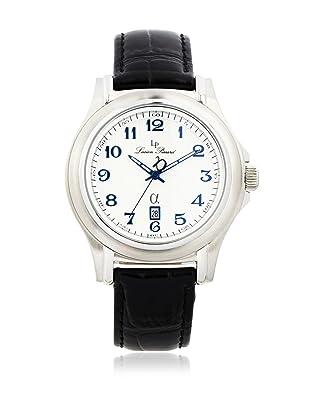 Lucien Piccard Men's A2205SL Black & Light Silver Leather Watch