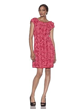 Pink Tartan Women's Rosette Dress (Pink)