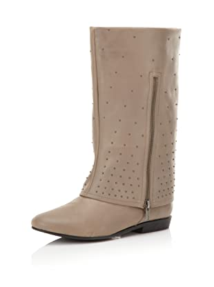 Messeca Women's Linda Cuffed Boot (Mushroom Leather)