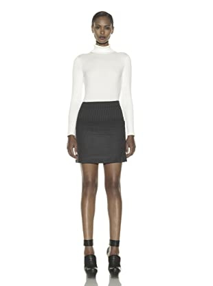 Costume National Women's Wool Blend Mini Skirt (Charcoal)