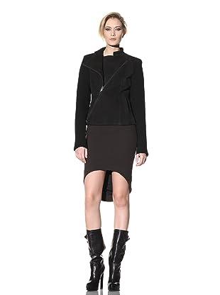 Haider Ackermann Women's Zip-Up Leather Jacket (Black)