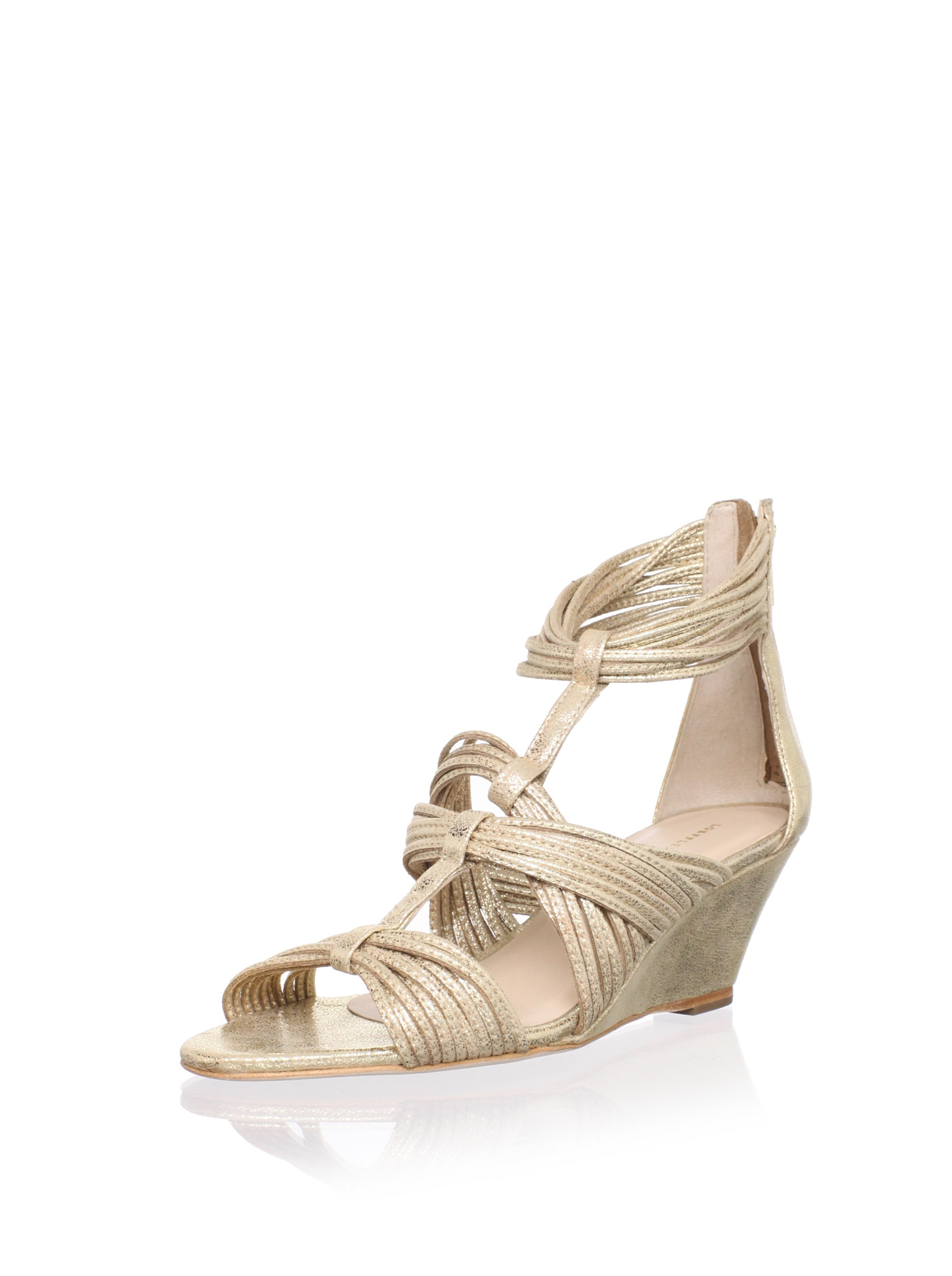 Loeffler Randall Women's Anja Wedge Sandal (pale gold)