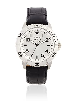 Invicta Men's 11426 Specialty Silver Dial Black Leather Watch