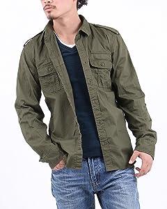 4color ツイルミリタリーシャツ