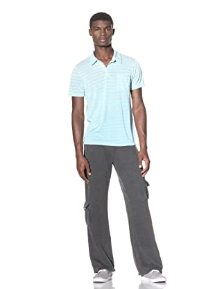 Gypsy 05 Men's Rodeo Striped Polo (Turquoise)