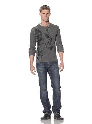 Just Cavalli Men's Appliqué Long Sleeve T-Shirt (Black)