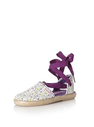 Cienta Kid's Floral Espadrille (Purple)