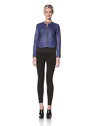 HARE + HART Women's Davis Leather Jacket (Cobalt)