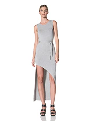 FACTORY by Erik Hart Women's Goddess Dress with Asymmetrical Hemline (Ash)