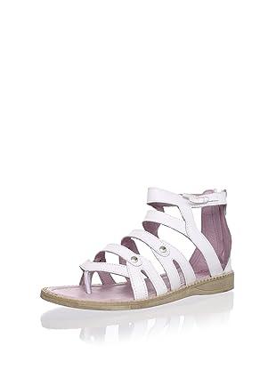 Billowy Kid's Gladiator Sandal (White)
