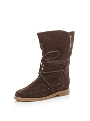 Jack Rogers Women's Little Nell Faux Fur Boot (Brown Suede)