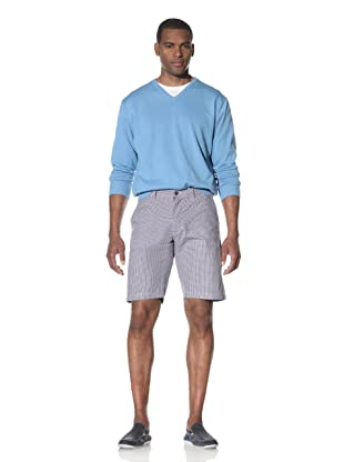Toscano Men's Checkered Flat-Front Shorts (Harbour)