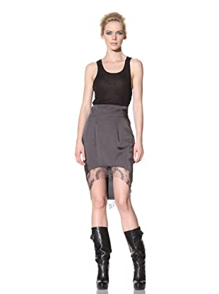 Haider Ackermann Women's Lace Trimmed Skirt (Anthracite Poly)