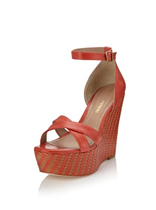 Pour La Victoire Women's Bonita Wedge Sandal (Red Multi Vegetal)