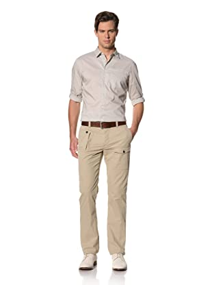 John Varvatos Collection Men's Slim Fit Button Fly Pants with Adjustable Waist Tabs (Cork)