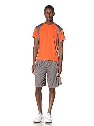New Balance Men's All Sport Short (Asphalt/Cherry Tomato)