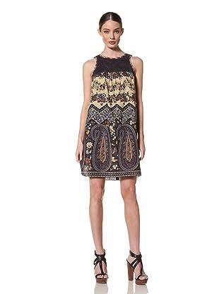 Anna Sui Women's Liberty Farmers Paisley Dress (Indigo)