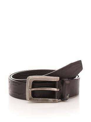 John Varvatos Star USA Men's Distressed Belt (Black)
