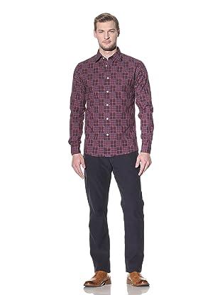 Benson Men's Plaid Shirt (Navy Patch)