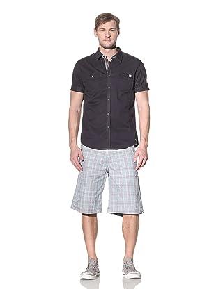 No Excess Men's Safari Double-Pocket Short Sleeve Shirt (Night)
