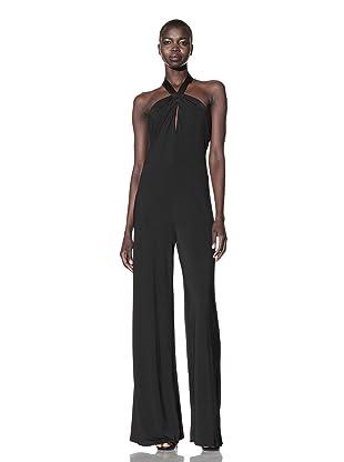 L.A.M.B. Women's Jersey Halter Jumpsuit (Black)