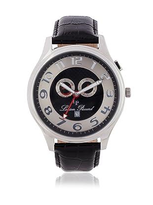 Lucien Piccard Men's Black/Black/Silver Leather Watch