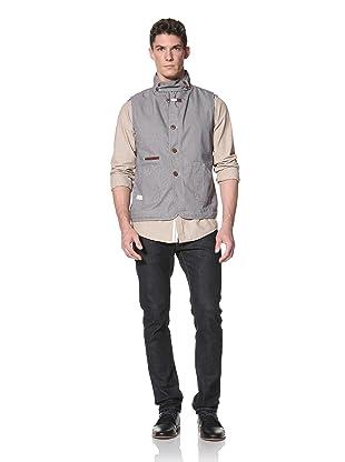 Marshall Artist Men's Tailored Work Vest (Striped Indigo)
