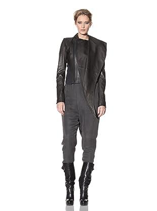Haider Ackermann Women's Mixed Media Leather Jacket (Anthracite/Botero)