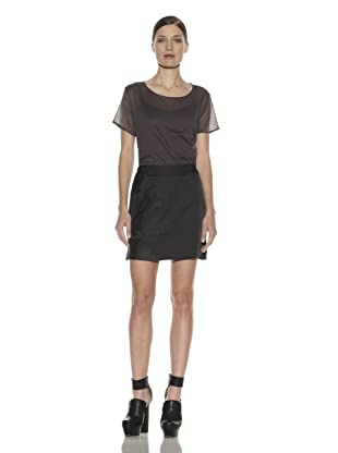 Costume National Women's Brocade Mini Skirt (Black)