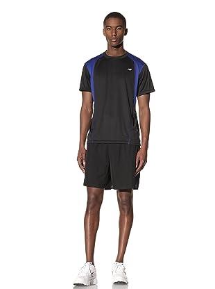 New Balance Men's Short Sleeve Training Top (Black/Surf the Web)