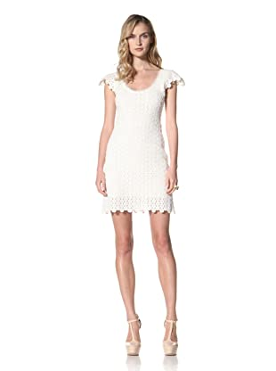 Yoana Baraschi Women's Lace Mosaic Shift Dress (White)