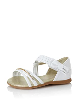 Pampili Kid's Rhinestone Strap Sandal (White)