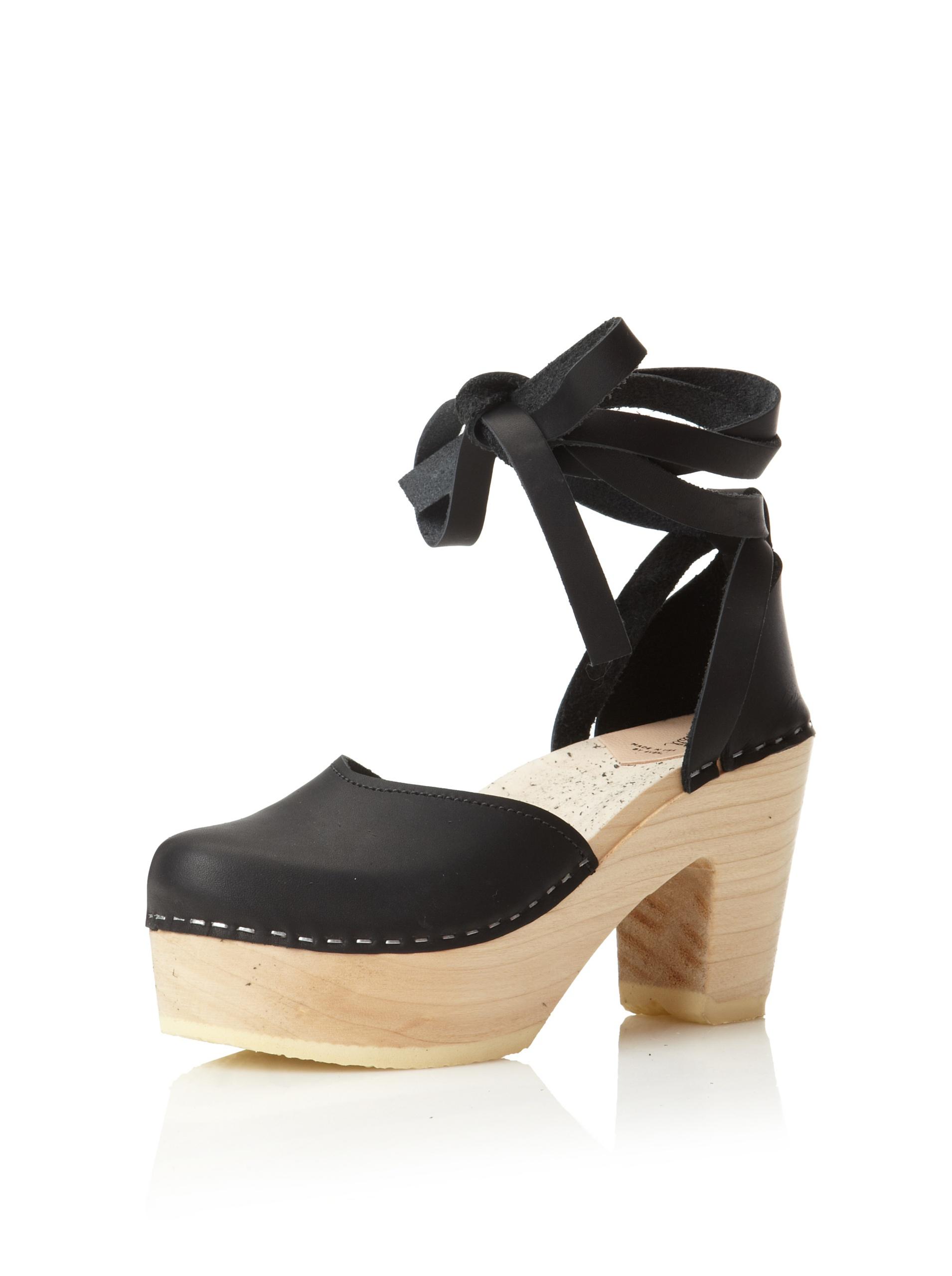 Loeffler Randall Women's Uta Heeled Clog (Black)