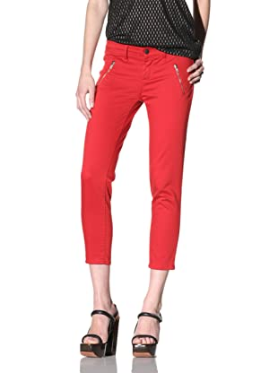 Rockstar Women's Ankle Cropped Pant (Red)
