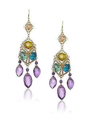 Diane Yang Multicolor Chandelier Earrings