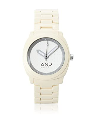 AND Watch Unisex Epicurus Cream/Silver Cellulose Acetate Watch