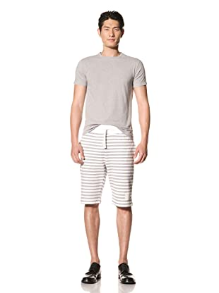 Thom Browne Men's Sailor Stripe Sweat Shorts (Grey/White)