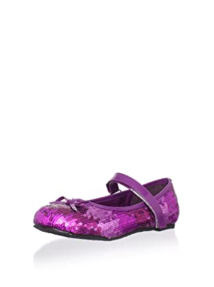China Doll Girl's Hollywood Sequin Mary Jane (Grape)