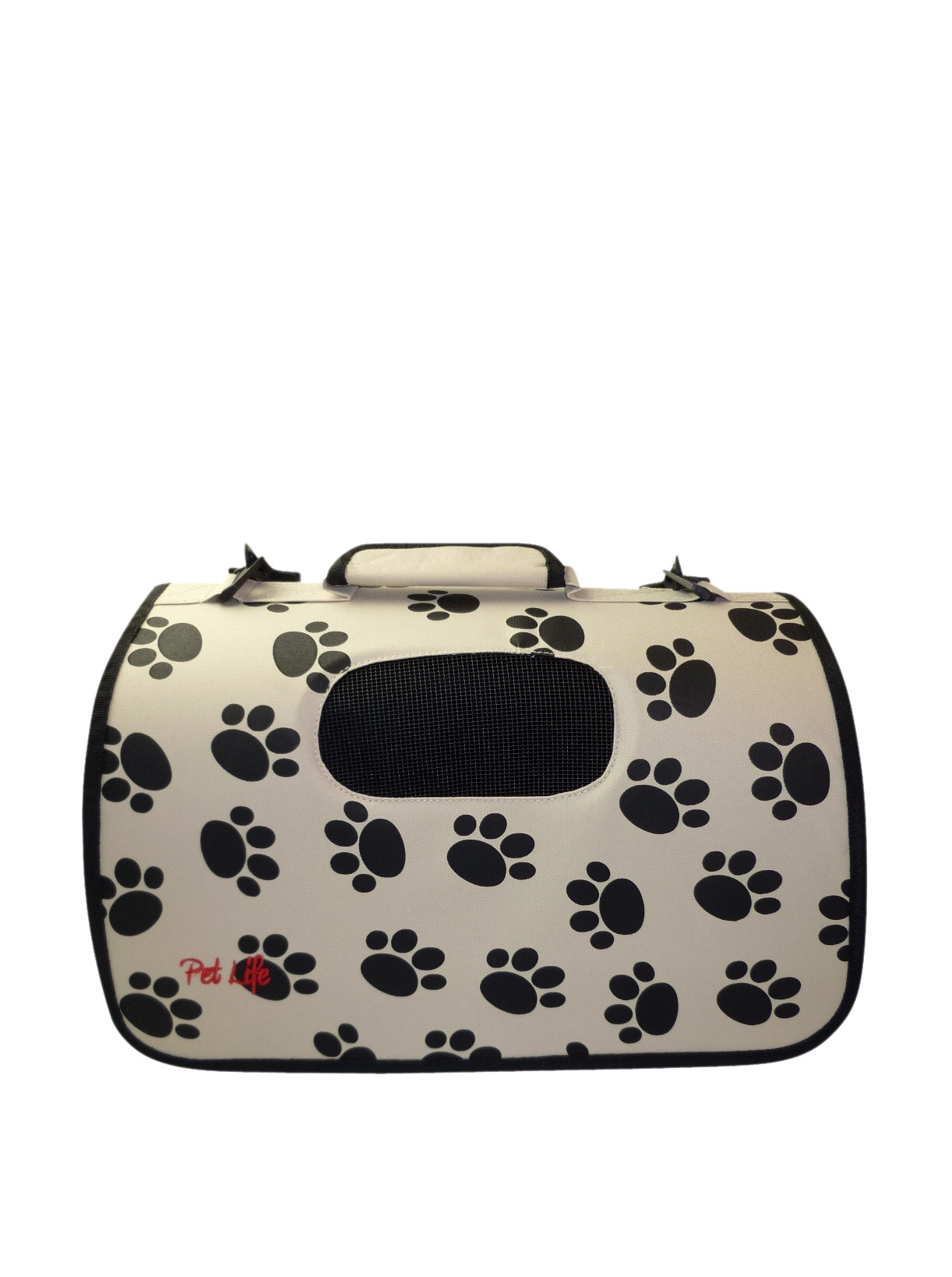Pet Life Zippered Sporty Mesh Carrier (Paw Print)