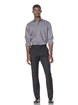 French Connection Men's Flannel Panel Trouser (Charcoal mel)