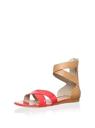 Pour La Victoire Women's Fabia Sandal (Coral Red Patent)