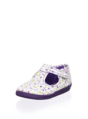 Cienta Kid's T-Strap Sneaker (Purple)