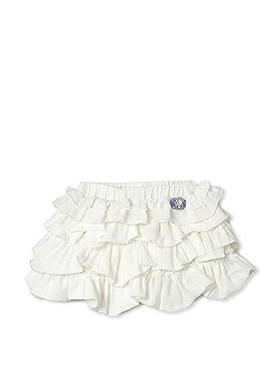Le Petit Pumm Girl's Stretch Ruffle Skirt (Ivory)