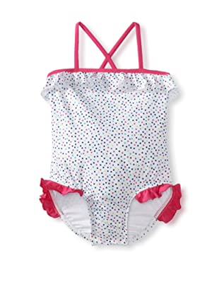 Splendid Girl's Confetti Dot One Piece Swimsuit (White)