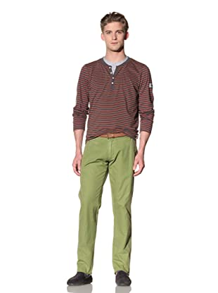 No Excess Men's Belted Twill Pant (Moss)