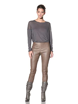 Haider Ackermann Women's Leather Leggings (Liquid Tobacco)
