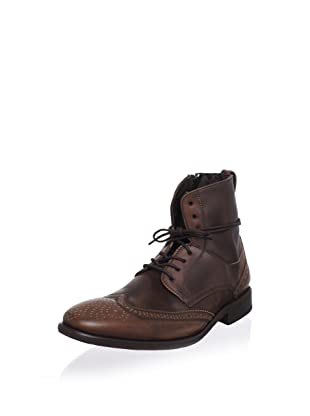 John Varvatos Men's Wingtip Ankle Boot (Dark Brown)