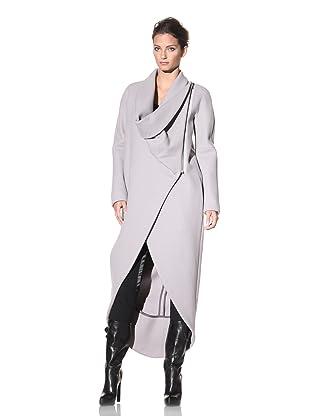 Haider Ackermann Women's Long Asymmetrical Coat (Chalk)